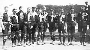 Football in Sweden - The first Swedish national team in 1908.