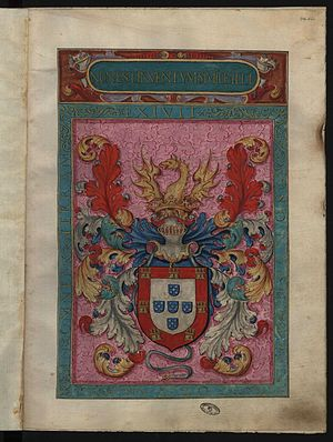 Coat of arms of Portugal - Image: Fl int 26 27 Thesouro de Nobreza, Armas de Portugal