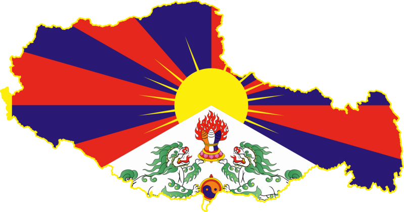 File:Flag map of Tibet.png