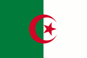 The flag of Algeria.