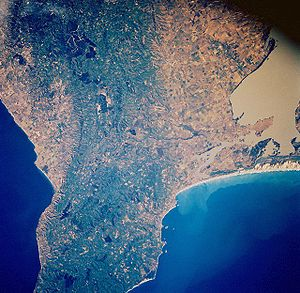 Fleurieu Peninsula - Fleurieu Peninsula from space, November 1985
