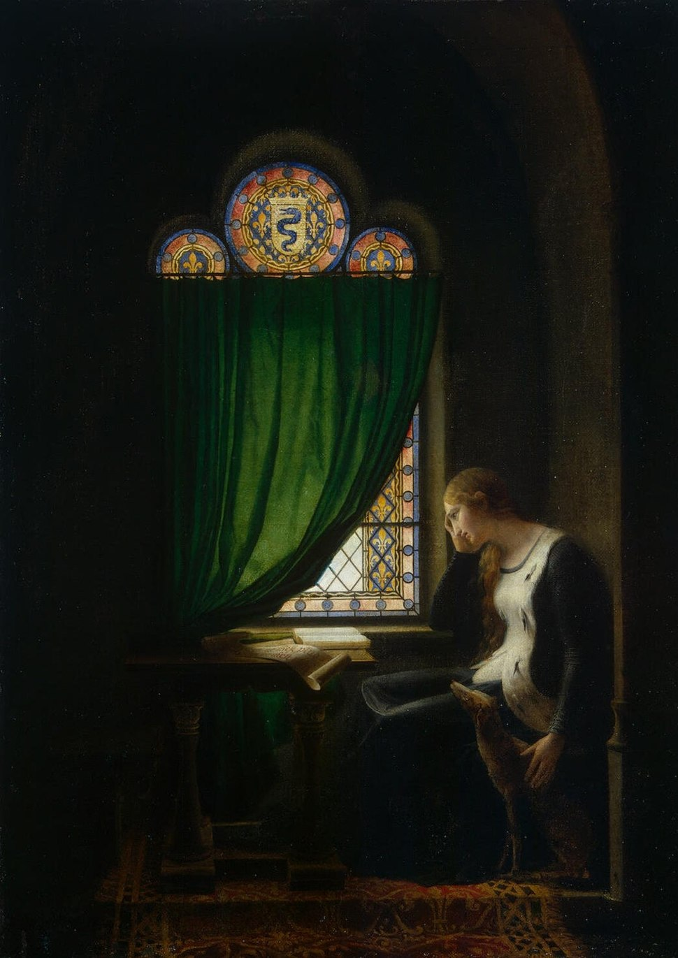 Fleury-François Richard - Valentine of Milan Mourning her Husband, the Duke of Orléans