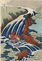 Flickr - …trialsanderrors - Hokusai, Yoshitsune Umarai waterfall at Yoshino in Washū, ca. 1833.jpg