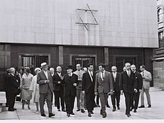 Flickr - Government Press Office (GPO) - President Yitzhak Ben-Zvi visiting monument erected to the jewish victims.jpg