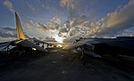 Flickr - Official U.S. Navy Imagery - A Harrier jet sit on the flight deck..jpg