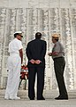 Flickr - Official U.S. Navy Imagery - Navy leadership stand in the USS Arizona Memorial shrine during a wreath laying ceremony..jpg