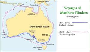 A Voyage to Terra Australis - Image: Flinders Map v 1P