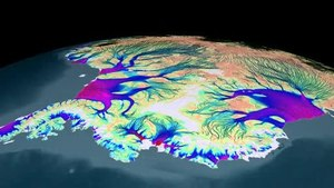 پرونده:Flow of Ice Across Antarctica.ogv