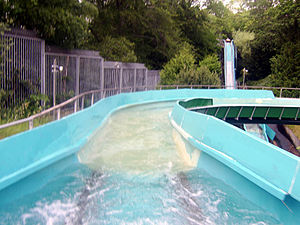 Log flume (ride) - Flumeride, at Liseberg, Sweden in June 2006.
