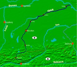 مسار نهر إيسار