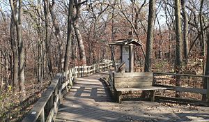 National Register of Historic Places listings in Sarpy County, Nebraska - Image: Fontenelle Forest boardwalk trails 2