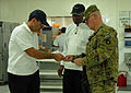 Food service rep works with Contractors for Thanksgiving lunch DVIDS343457.jpg