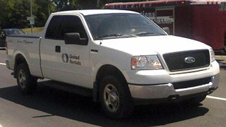 United Rentals - A Ford F-150 truck from United Rentals.