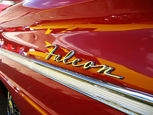 Ford Falcon (North America) - Falcon wordmark emblem on side