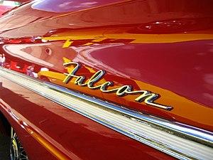 Ford Falcon (North America) - Falcon wordmark emblem on side