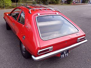 Ford Pinto - 1973 Pinto Runabout, noting view of rear hatch