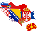 Former Yugoslavia Flag Map (Without Kosovo).png