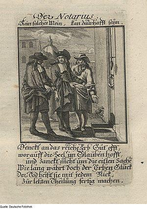 Notary - Image: Fotothek df tg 0008473 Ständebuch ^ Amt ^ Notar ^ Jurist