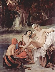 Bathsheba bathing, by Francesco Hayez