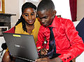Frank and Mwajuma getting ready to tweet (8969638688).jpg