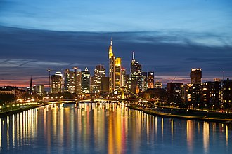 Economy of the European Union - City of Frankfurt, one of EU's financial centres and seat of the ECB
