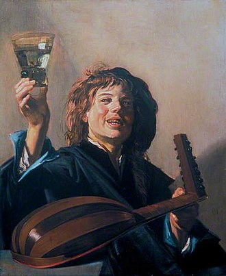 The Lute Player (Hals) - Image: Frans Hals Boy with a glass and a lute
