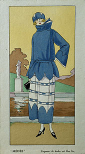 71b7714245f A drawing picturing French women s fashion in the 1920s