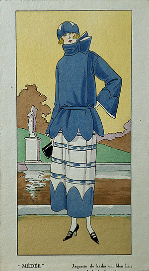 1920s in Western fashion - A drawing picturing French women's fashion in the 1920s