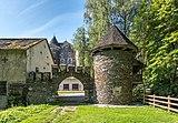 Frauenstein Schloss Frauenstein Wasserablaufschleusenturm Zinnen-Tor N-Ansicht 15082019 6962.jpg