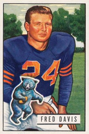 Fred Davis (defensive lineman) - Davis on a 1951 Bowman football card