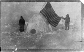 Frederick Cook - A photo from Cook's 1909 arctic expedition, which he alleged was taken at or near the North Pole