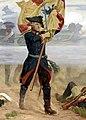 Frederick the Great as standard-bearer at the battlefield.jpg