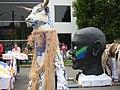 Fremont Solstice Parade 2008 - ornate bull et. al. 02.jpg