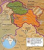 Carte administrative du Cachemire.