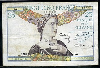 French Guianan franc - French Guiana 25 Francs