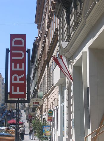 Signboard of Freud Museaum