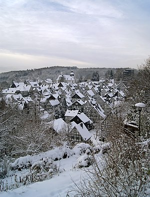 Old town of Freudenberg, Germany.