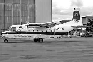 Royal Tongan Airlines - Friendly Island Airways CASA 212 at Essendon Airport (1986)