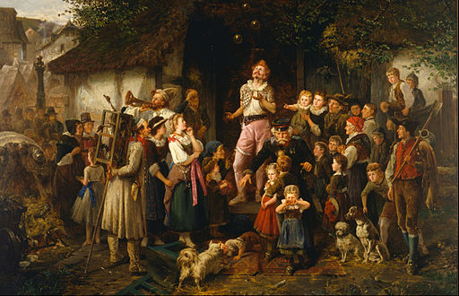 Fritz Beinke - The juggler- a village fair - Google Art Project