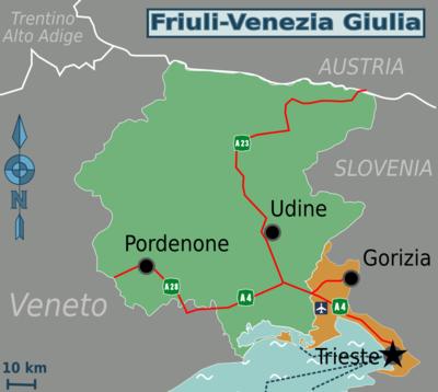 Cartina Friuli Venezia Giulia E Veneto.Friuli Venezia Giulia Wikivoyage Guida Turistica Di Viaggio