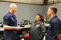 From left, U.S. Coast Guard Rear Adm. Thomas P. Ostebo, the Coast Guard 17th Coast Guard District commander; Charlotte E. Brower, the North Slope Borough, Alaska, mayor; and Vice Adm. Paul Zukunft, the Pacific 120725-G-GW487-003.jpg