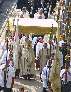 Procession de la Fête-Dieu à Bamberg en Allemagne en 2007