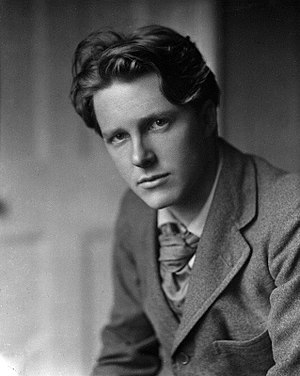 Frontispiece (cropped) to Collected poems of Rupert Brooke with a Memoir 1918.jpg
