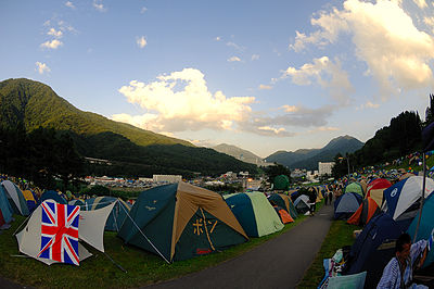 Campsite at Fuji Rock Fujigreenstage.jpg