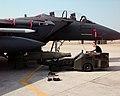 GBU-24 put up under an F-15E, Aviano Air Base, March 24, 1999.jpg
