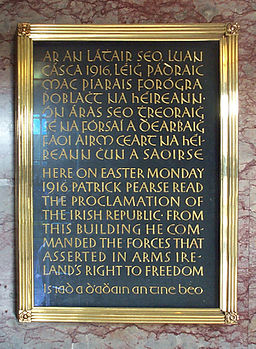 GPO Easter Rising Plaque