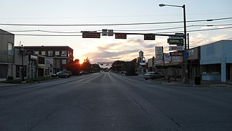 Grand Prairie, Texas - Image: GP Main Street at Dusk