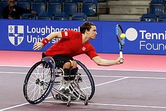 Gordon Reid (tennis) - Gordon Reid at the 2017 NEC wheelchair tennis Masters