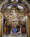 G santi Sacra conversación con resurrección Fresco San Domenico capilla Tiranni, Cagli.jpg