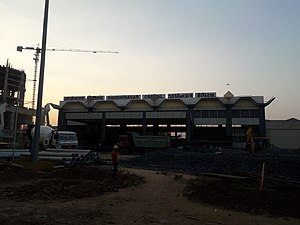 Gandhinagar Capital Gujarat - Outside the station.jpg